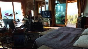 La chambre de Claude Nobs au Picotin.