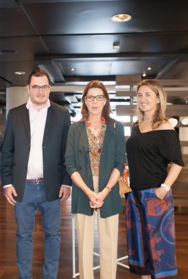 artmonte-carlo 2016 - H.S.H. the Princess Caroline de Hanovre with Thomas Hug and Safia Al Rashid (c) Fabien Prauss