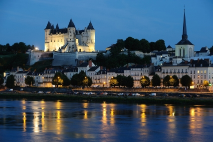 Saumur by night - © JS. Evrard 2014